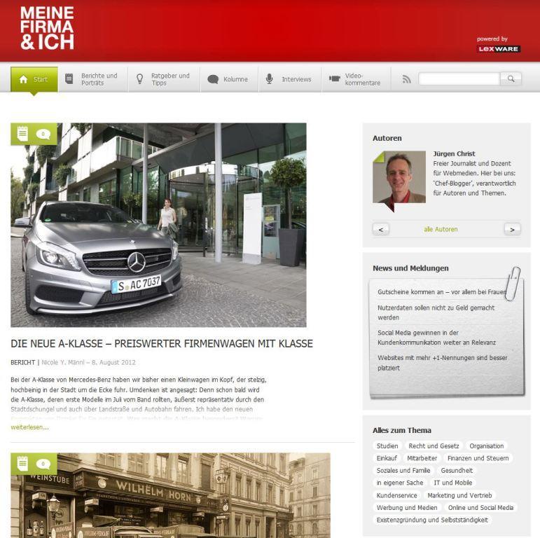 Bild: Blog meine-firma-und-ich.de im neuen Design