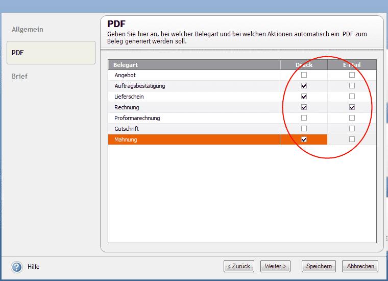 pic: Beleg-PDF Option