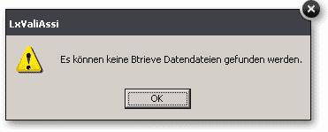 pic: LxValiAssi Betrieve Dateien Fehler
