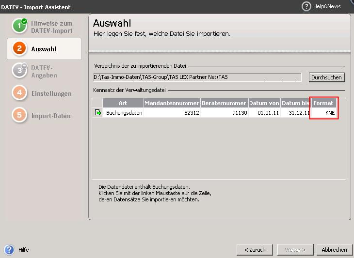 Datev Import - Neuerungen ab Version 2013