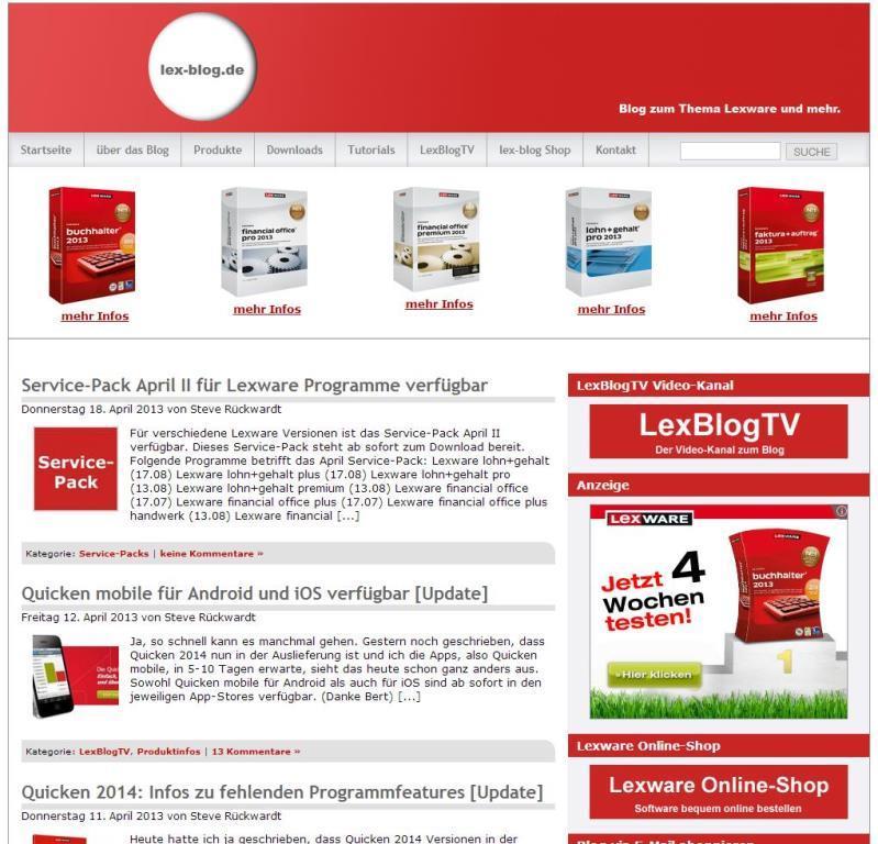 lex-blog.de Startseite bis 18.04.2013