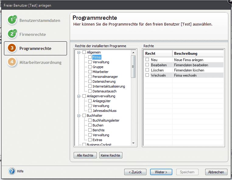 Lexware Benutzerverwaltung pro/premium