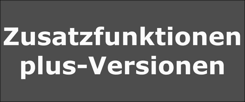Zusatzfunktionen in Lexware plus-Versionen