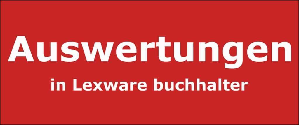 Auswertungen in Lexware buchhalter