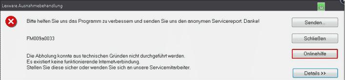 Lexware Servicereport Ausnahmebehandlung
