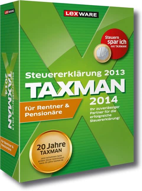 Lexware TAXMAN 2014 für Rentner und Pensionäre