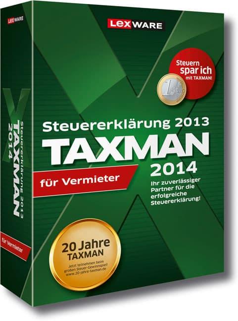Lexware TAXMAN 2014 für Vermieter