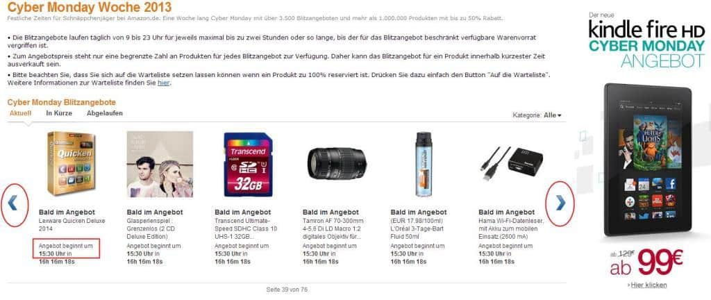 Quicken Deluxe Cybermonday Aktionsangebot 2013