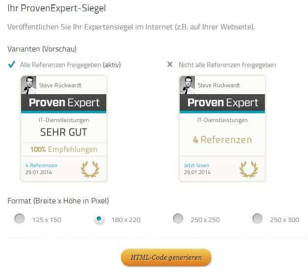 Proven Expert - Expertensiegel