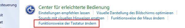 Windows 7 - Funktionsweise Tastatur