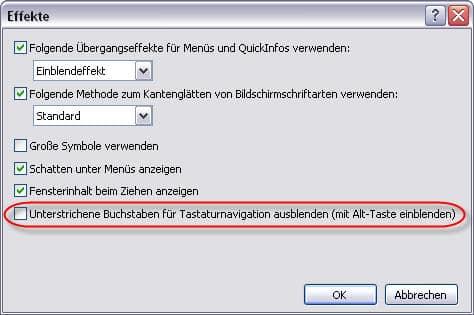 Windows XP - Efekte