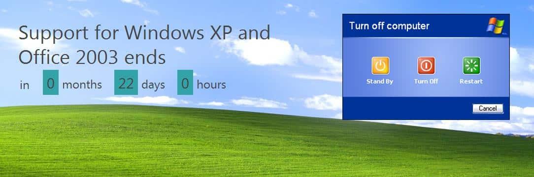Support Countdown für Windows XP