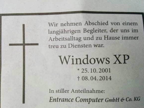 Traueranzeige WindowsXP