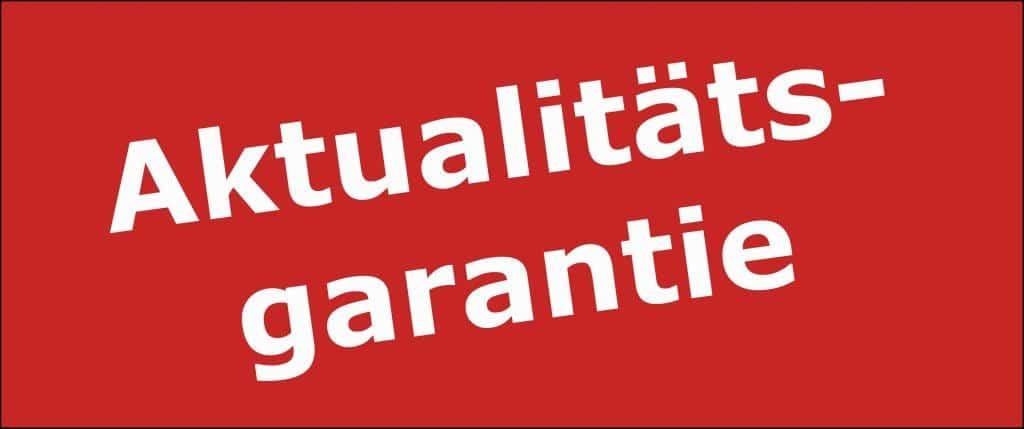Aktualitätsgarantie