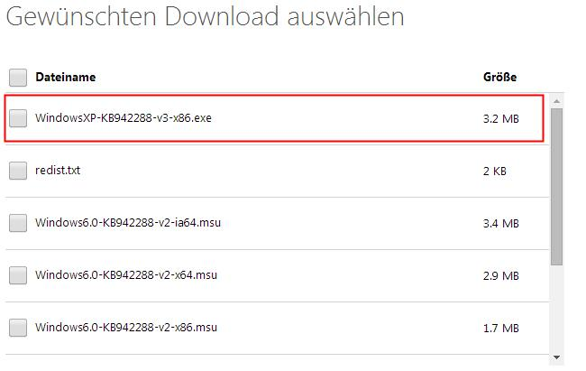 Update Windows Installer XP