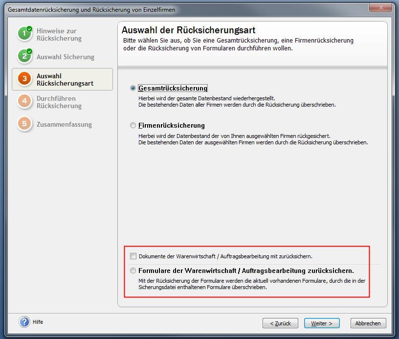 Formularrücksicherung pro / premium Versionen