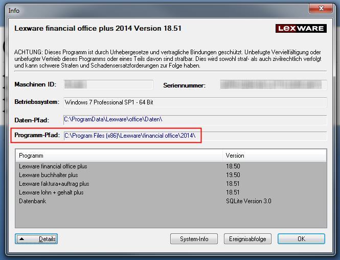 Lexware Infoseite standard / plus Programme