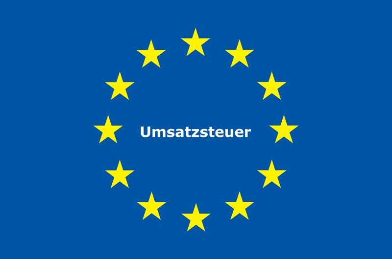EU Flagge Umsatzsteuer