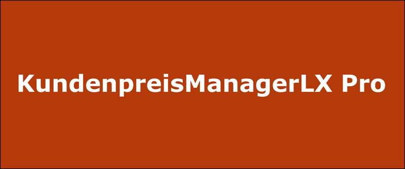 KundenpreisManagerLX Pro