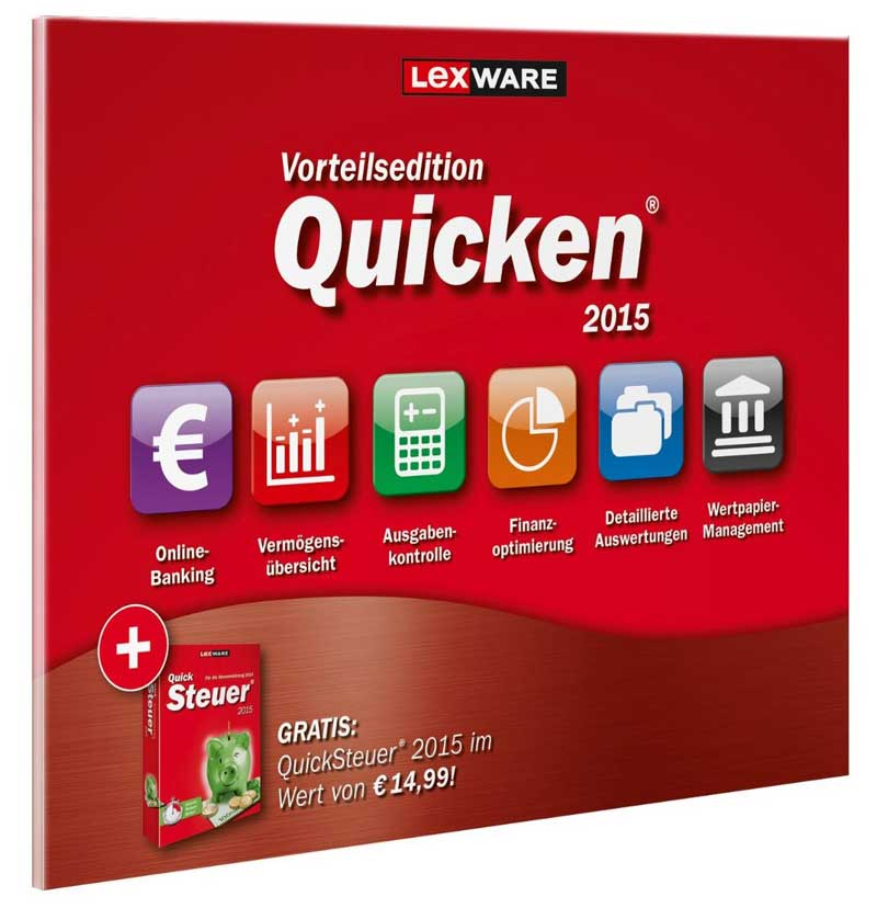 Quicken 2015 VE inkl. QuickSteuer 2015
