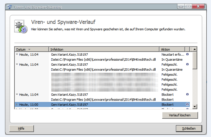 f-secure Meldung BHKreditRech.dll 20141216
