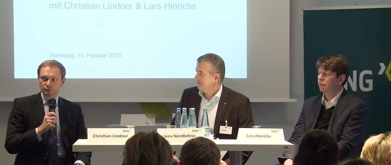 XING Spielraum Talk Christian Lindner und Lars Hinrichs