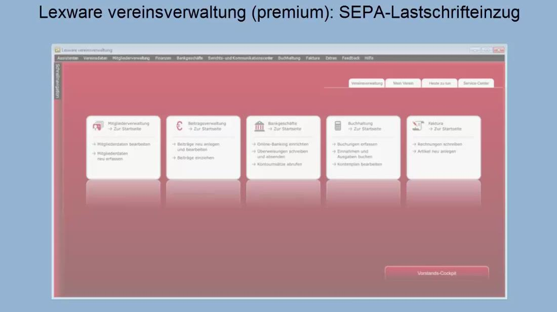 SEPA Lastschrift vereinsverwaltung