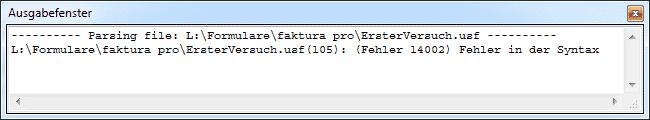 Fehler Kompilierung