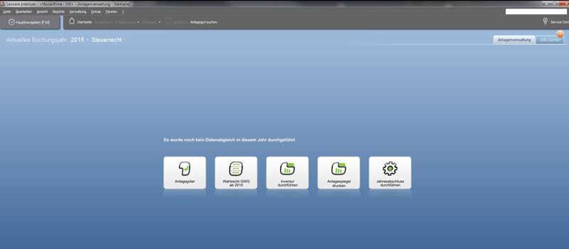 Anlagenverwaltung Datenabgleich Rechnungskreise