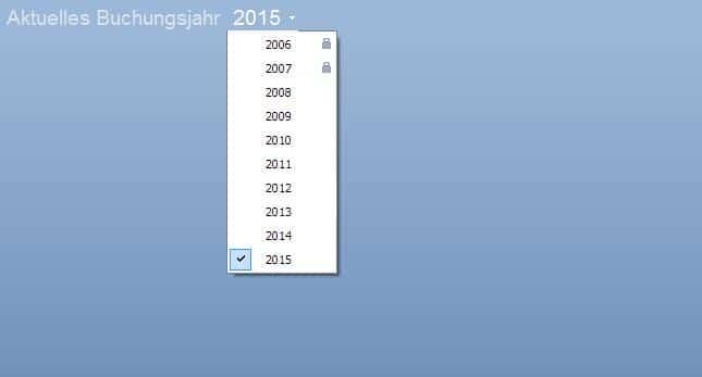 Liste Buchungsjahre