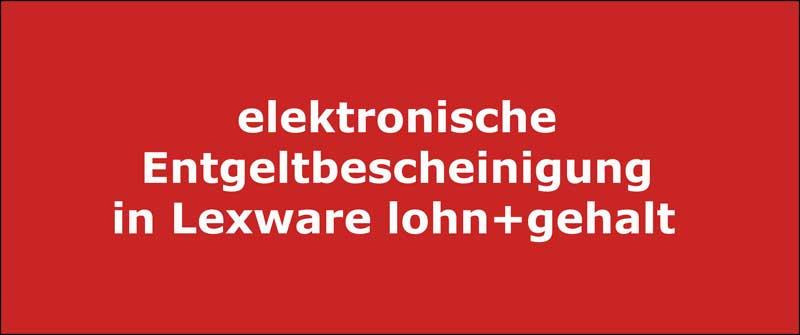 elektronische Entgeltbescheinigung in Lexware lohn+gehalt