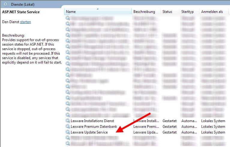 Lexware Update Service Dienst
