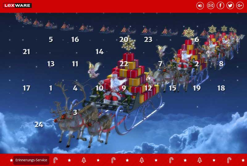 Lexware Adventskalender 2015