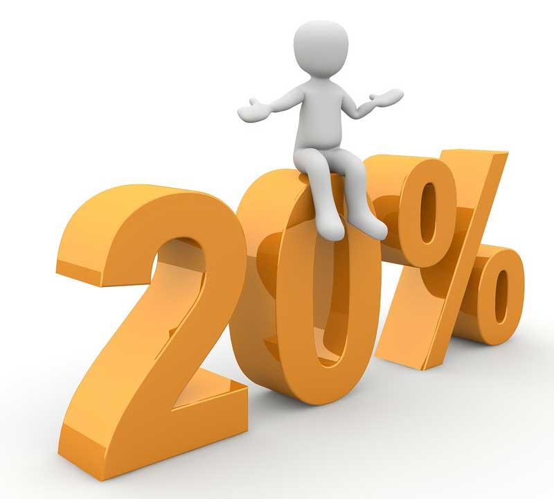 20 Prozenz (pixabay - McLac2000)