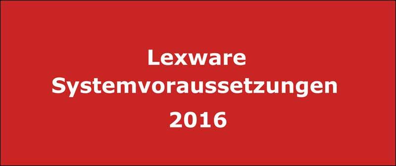 Lexware Systemvoraussetzungen Versionen 2016