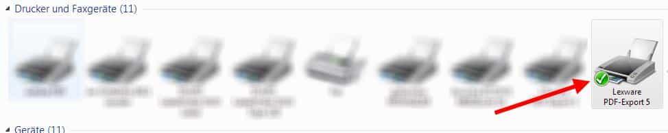 Lexware PDF-Export Standarddrucker