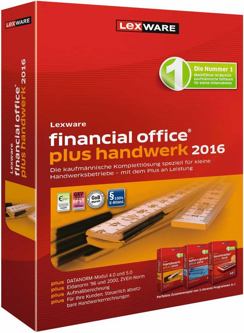 Lexware financial office plus handwerk 2016 Packshot