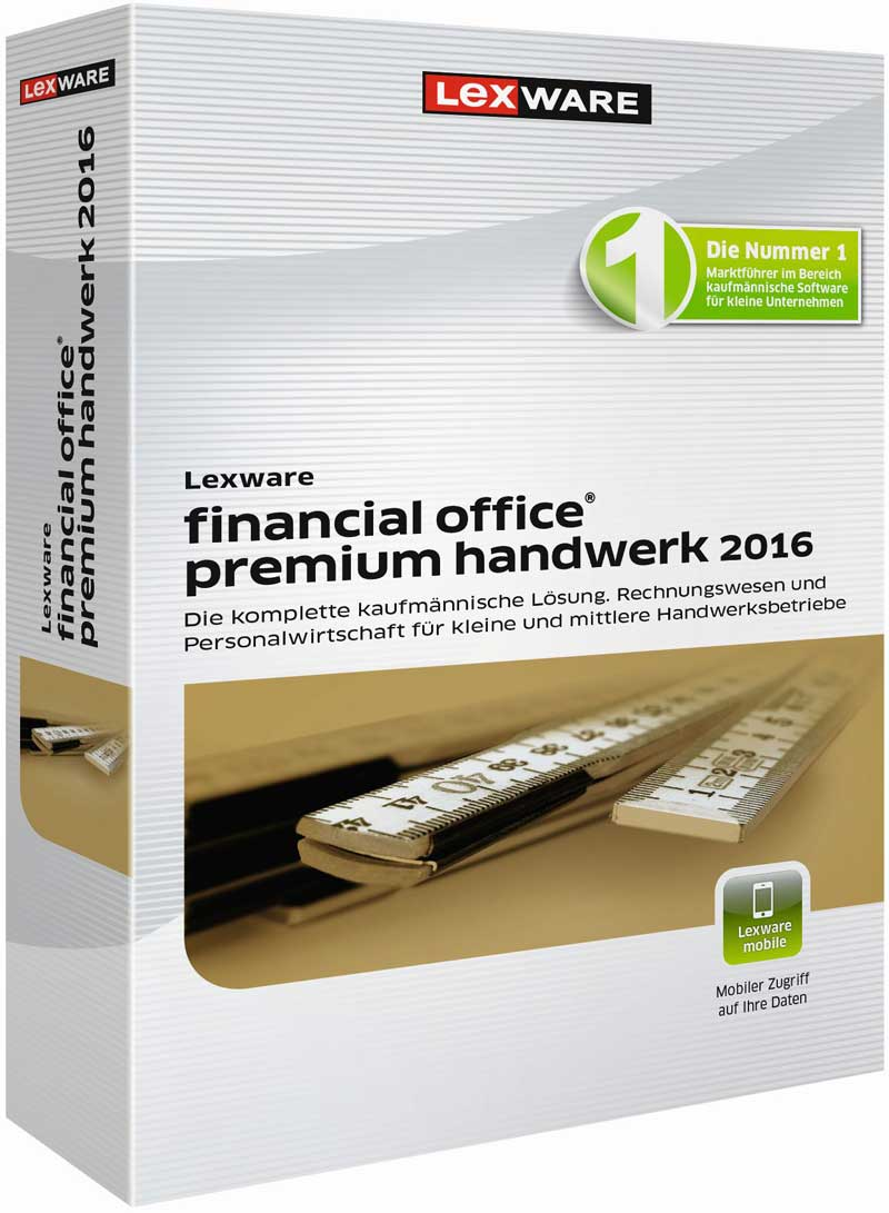 Lexware financial office premium handwerk 2016 Packshot