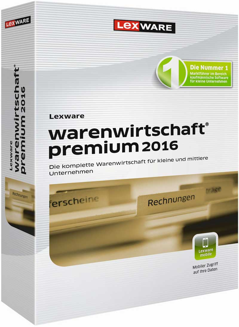 Lexware warenwirtschaft premium 2016 Packshot