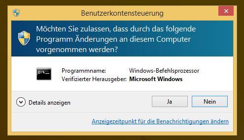 Windows Sicherheitsmeldung