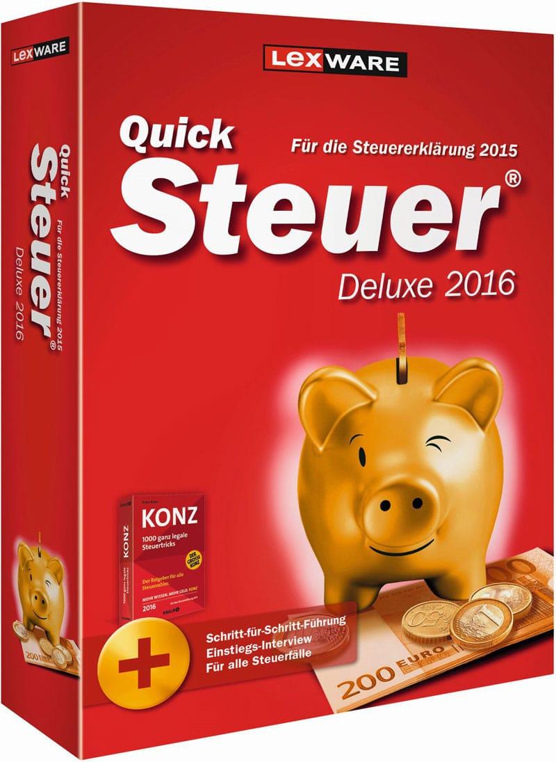 Lexware QuickSteuer Deluxe 2016 Packshot