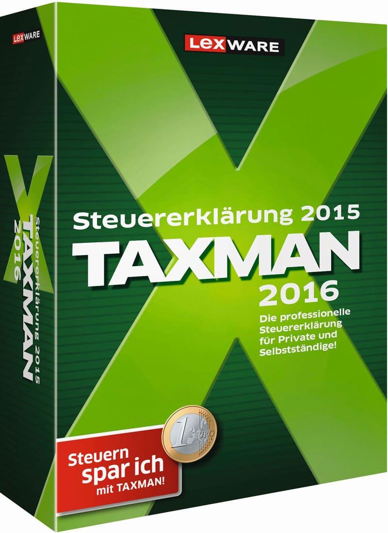 Lexware Taxman 2016 Packshot