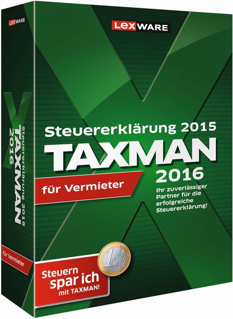 Lexware Taxman Vermieter 2016 Packshot