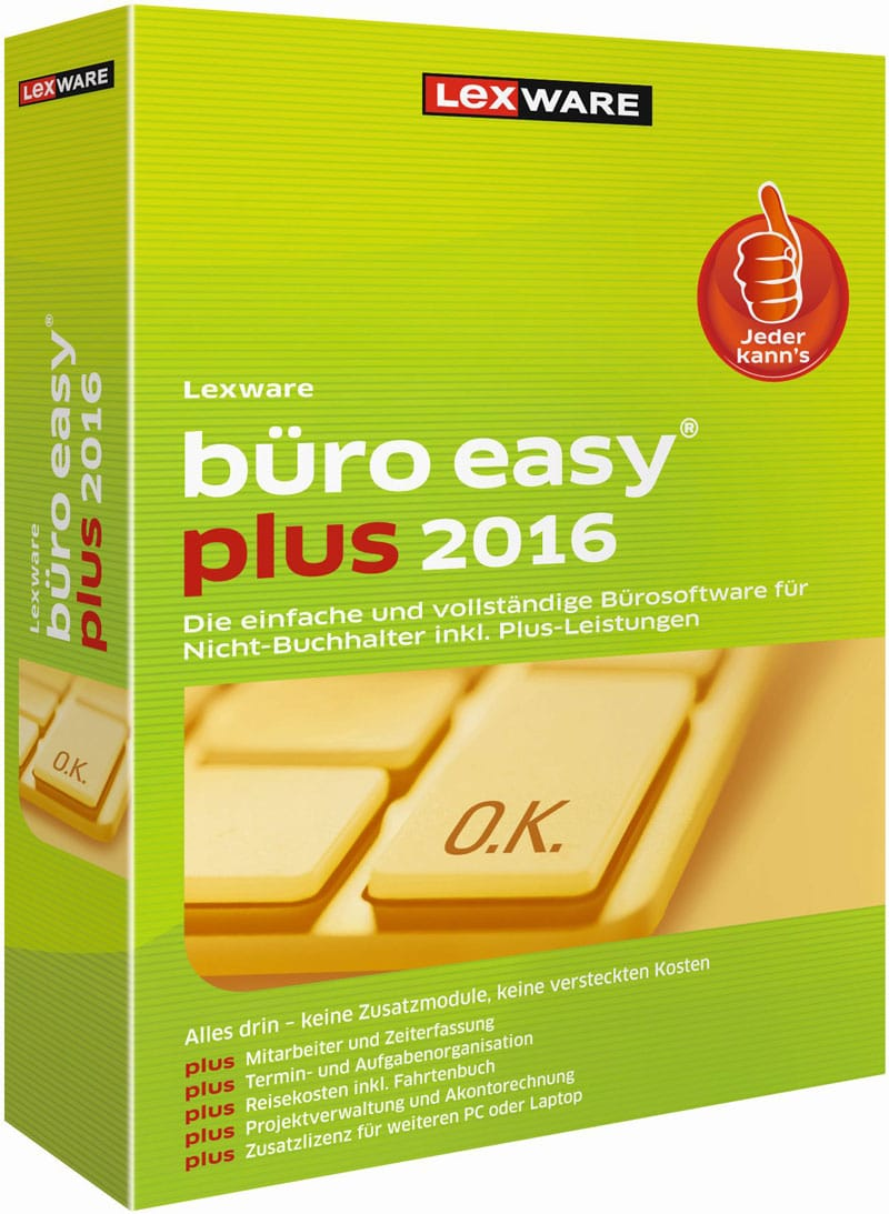 Lexware büro easy plus 2016 Packshot