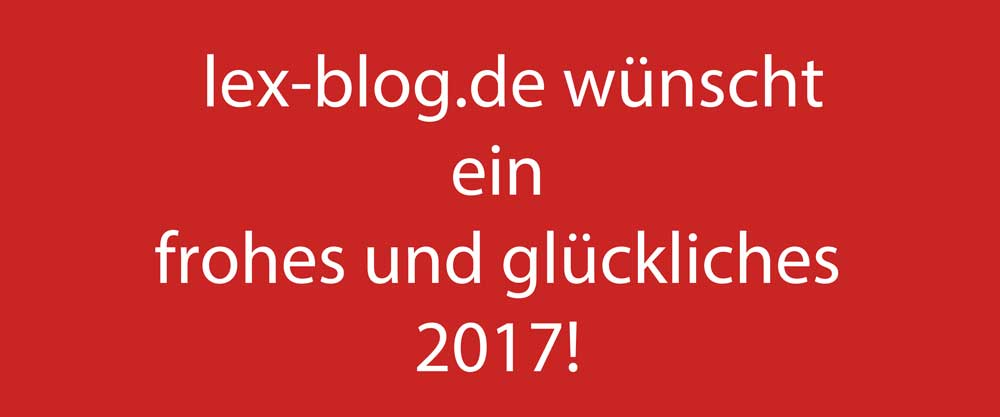 Frohes neues 2017