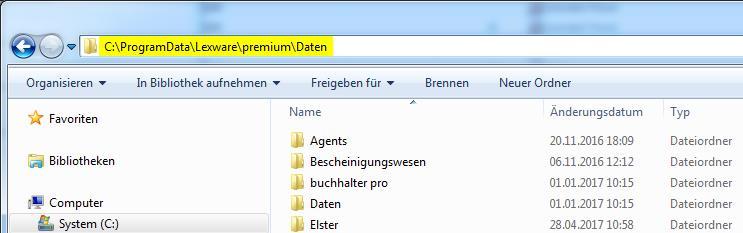 Windows Explorer: Adresszeile mit Pfad