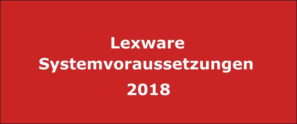 Systemvoraussetzungen 2018