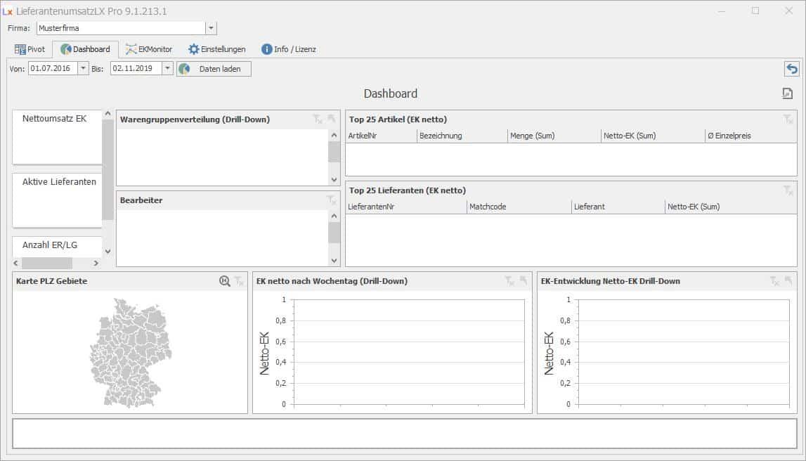 LieferantenumsatzLX Pro Dashboard