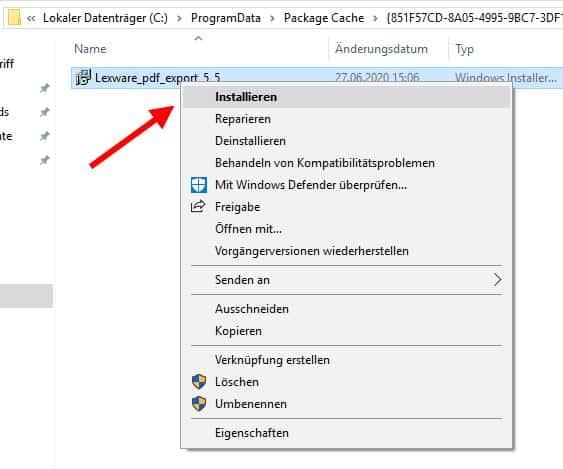 Lexware PDF Treiber installieren