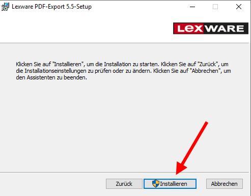 Lexware PDF Treiber Installationsassistent